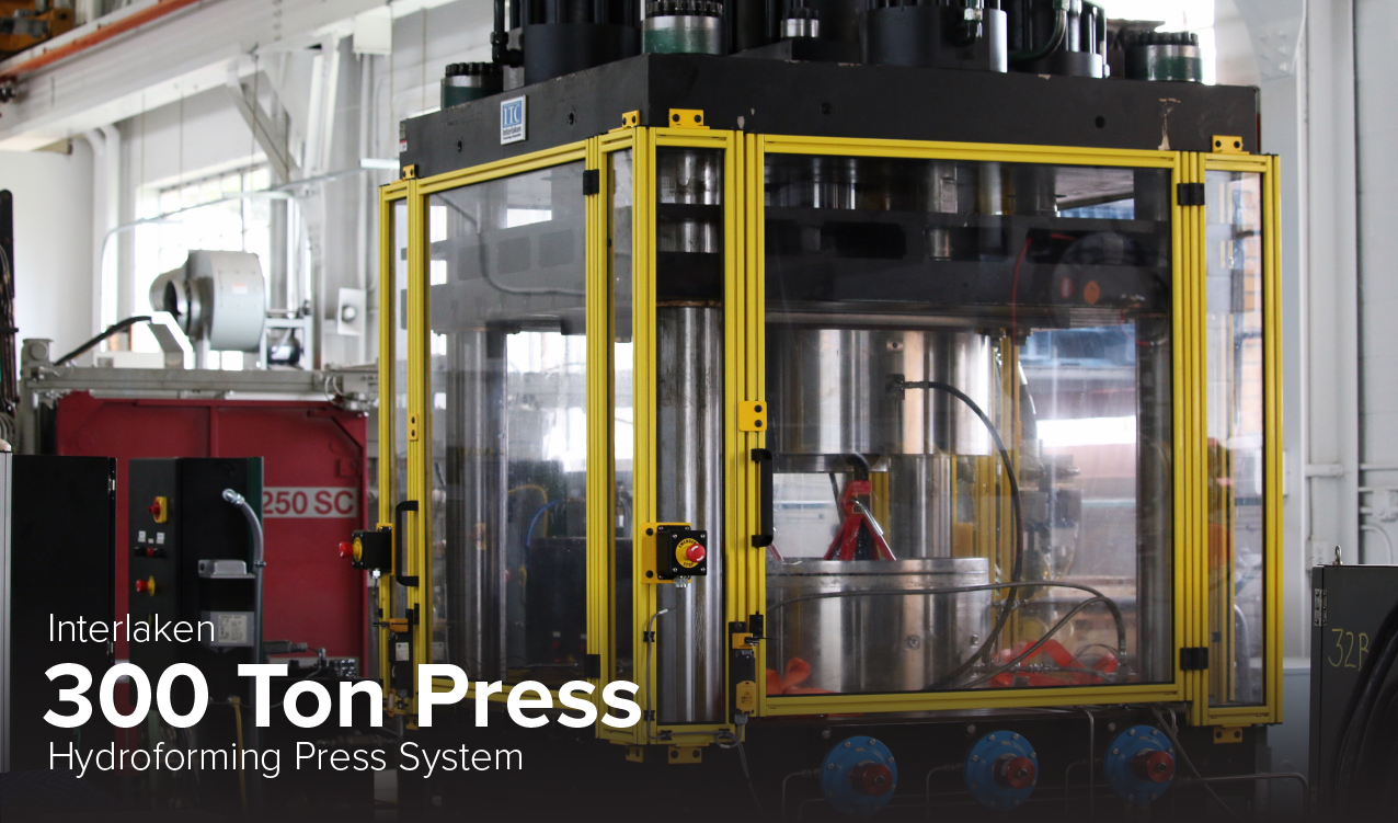 image of Interlaken 300 ton press hydroforming press system at CDME