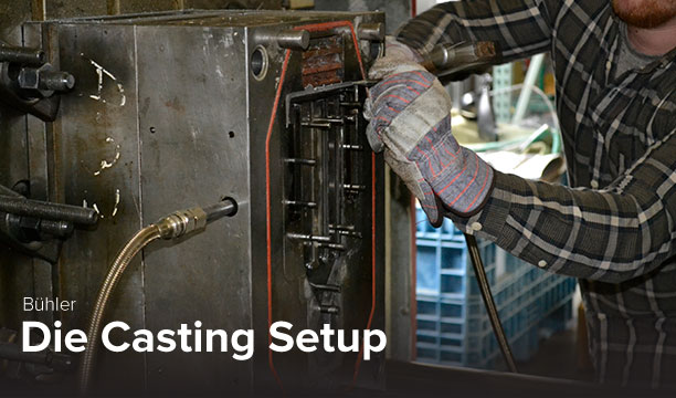 photo of Buhler casting set up at Ohio State's CDME