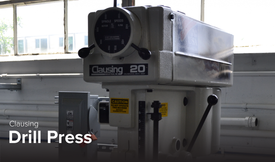image of Clausing drill press at CDME