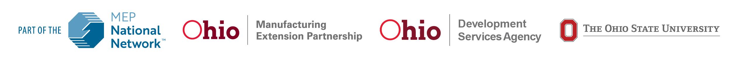MEP national network ohio manufacturing extension partnership development services state university logos