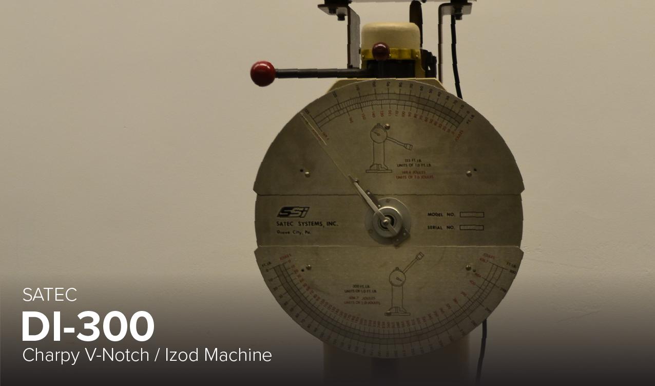 image of Satec DI-300 Charpy V-Notch/Izod Machine at CDME