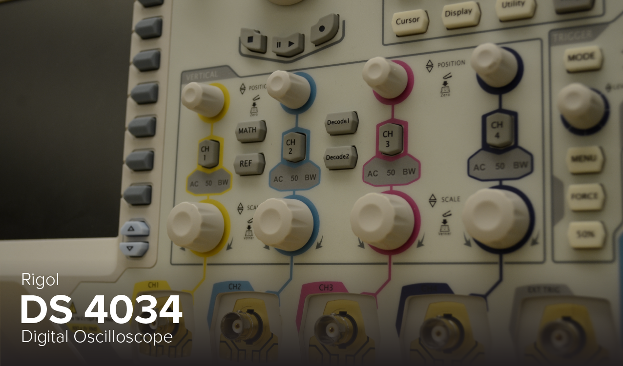 Photo of Rigol DS 4034 Digital Oscilloscope at Ohio State's CDME