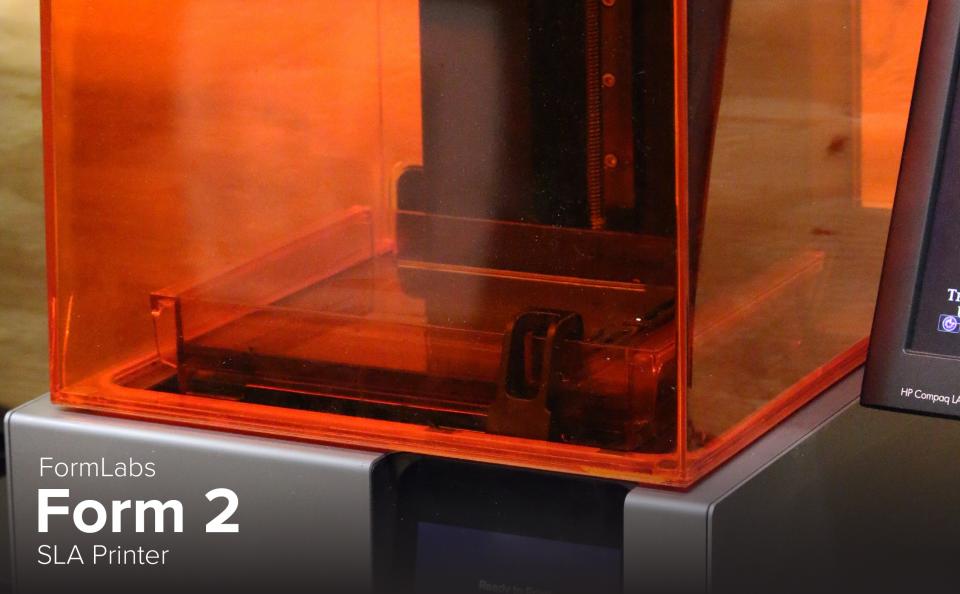 image of FormLabs Form 2 SLA Printer at CDME