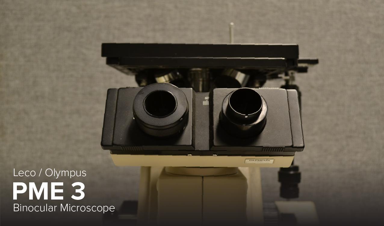image of Leco Olympus PME 3 binocular microscope at CDME