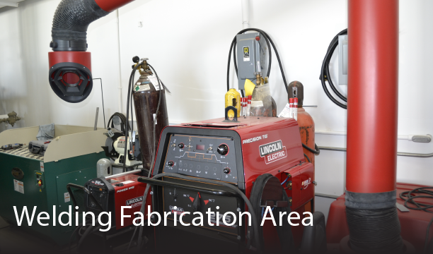 photo of welding fabrication area at Ohio State's CDME