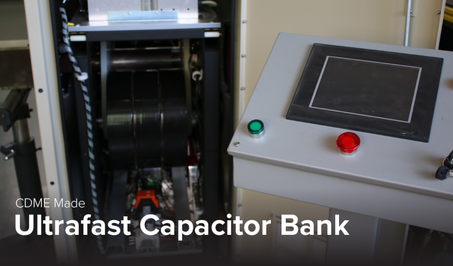 photo of ultrafast capacitor bank made by CDME at Ohio State