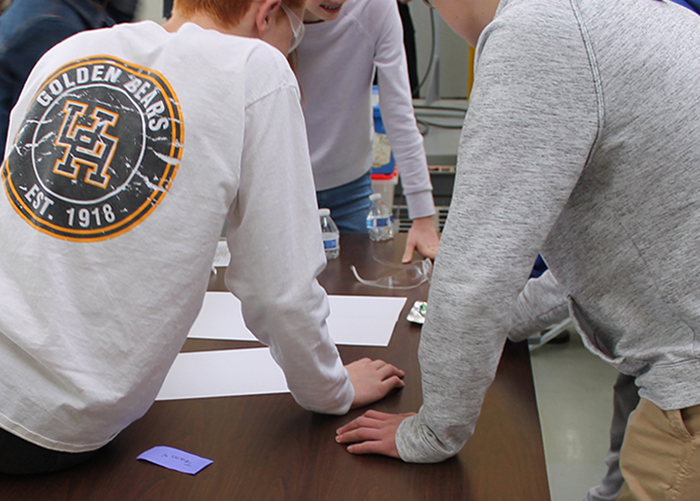 Upper Arlington High School students participate in an ideation workshop
